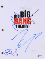 """The Big Bang Theory"" Script Signed by (4) with Johnny Galecki, Jim Parsons, Kaley Cuoco & Simon Helberg (Beckett LOA) at PristineAuction.com"