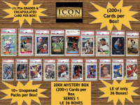 Icon Authentic 200X Mystery Box Series 1 - (200+ Cards per Box)
