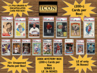 Icon Authentic 200X Mystery Box Series 2 - (200+ Cards per Box)