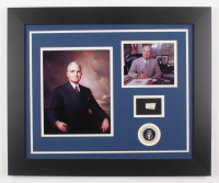 Harry S. Truman 19.5x23.5 Custom Framed Display with (1) Hand-Written Word From Letter (JSA LOA Copy)