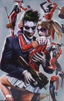 "Greg Horn Signed ""Harley Quinn & Joker"" 11x17 Lithograph (JSA COA) at PristineAuction.com"