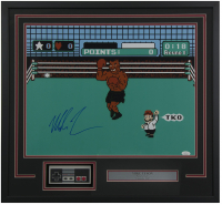 "Mike Tyson Signed ""Punch-Out!!"" 24x26 Custom Framed Photo Display with Nintendo NES Controller (JSA COA)"