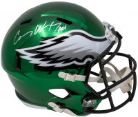 "Carson Wentz Signed Philadelphia Eagles Full-Size Chrome Speed Helmet Inscribed ""AO1"" (Fanatics Hologram)"