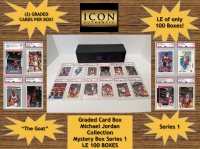 Graded Card Mystery Box Michael Jordan Collection (Guaranteed One Michael Jordan Graded Card in Every Box) (2 Graded Cards per Box)