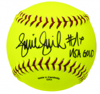 "Jennie Finch Signed Softball Inscribed ""USA Gold"" (JSA COA)"
