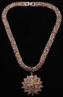 44.27ct Multicolor Sapphire 925 Silver Necklace (AIG COA)