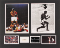 Muhammad Ali 16x20 Custom Matted Cut Display with (1) Hand-Written Word from Index Card (JSA LOA Copy)
