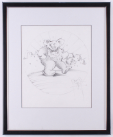 "Stanley Mouse Signed ""Dancing Bear"" 17.5x21.5 Custom Framed Sketch Display (Beckett LOA) at PristineAuction.com"