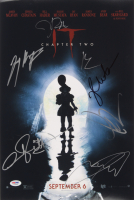 """IT Chapter Two"" 12x18 Movie Poster Print Signed By (7) with James McAvoy, Jay Ryan, Isaiah Mustafa, Jessica Chastain, Andy Muschietti, Bill Hader & James Ransone (PSA LOA)"