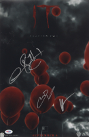 """James McAvoy, Bill Hader & Andy Muschietti Signed """"IT Chapter Two"""" 12x18 Movie Poster Print (PSA LOA) at PristineAuction.com"""
