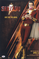 "Zachary Levi Signed ""Shazam! "" 12x18 Movie Poster Print (PSA COA) at PristineAuction.com"