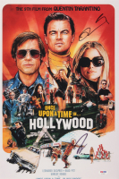 "Quentin Tarantino & Leonardo DiCaprio Signed ""Once Upon a Time in Hollywood"" 12x18 Movie Poster Print (PSA COA)"