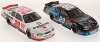 Lot of (2) Kevin Harvick LE 1:24 Scale Die-Cast Cars with #29 GM Goodwrench Service / E.T. 2002 Monte Carlo & #29 GM Goodwrench Service Plus 2001 Monte Carlo