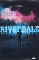 """""""Riverdale"""" 12x18 Poster Print Signed By (4) with Lili Reinhart, Cole Sprouse, Madelaine Petsch, & Camila Mendes (PSA LOA) at PristineAuction.com"""
