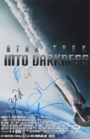 """Star Trek: Into Darkness"" 11x17 Movie Poster Print Signed By (6) with Zachary Quinto, Chris Pine, J. J. Abrams, John Cho, Michael Giacchino & Alice Eve (PSA LOA) at PristineAuction.com"
