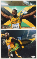 Lot of (2) Usain Bolt Signed 8x10 Photos (JSA COA) at PristineAuction.com