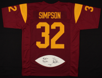 LE Heisman Trophy Winners Jersey with Football Panel Signed By (4) With Marcus Allen, O.J. Simpson, Mike Garrett & Charles White (JSA COA) at PristineAuction.com