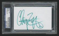 Chip Z'Nuff Signed 3x5 Index Card (PSA Encapsulated)