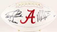 "Derrick Henry & Mark Ingram Jr. Signed Alabama Crimson Tide Logo Football Inscribed ""'15 Heisman"" & ""'09 Heisman"" (Beckett COA)"