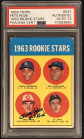 """Pete Rose Signed 1963 Topps #537 RC Inscribed """"Hit King"""" - Autograph Graded PSA 10 (PSA Encapsulated)"""