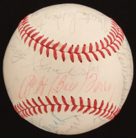 ONL Baseball Signed by (19) with Bob Feller, Bill Dickey, Casey Stengel, Red Ruffing (JSA LOA & Beckett LOA) at PristineAuction.com