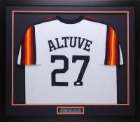 Jose Altuve Signed 32x37 Custom Framed Jersey (JSA COA) at PristineAuction.com