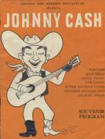 Johnny Cash Country & Western Spectacular Souvenir Program at PristineAuction.com