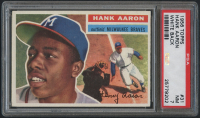 1956 Topps #31 Hank Aaron - White Back (PSA 7) at PristineAuction.com
