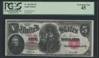 1907 $5 Five Dollars Legal Tender Large Bank Note (PCGS 45) at PristineAuction.com