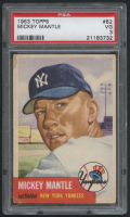 1953 Topps #82 Mickey Mantle (PSA 3) at PristineAuction.com