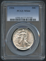 1936 50¢ Walking Liberty Silver Half Dollar (PCGS MS 66) at PristineAuction.com