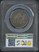 1839 50¢ Seated Liberty Half Dollar - Drapery (PCGS VF 35) at PristineAuction.com