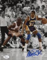 Magic Johnson Signed Los Angeles Lakers 8x10 Photo (JSA COA)