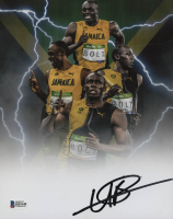 Usain Bolt Signed 8x10 Photo (Beckett COA)