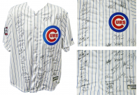 2016 World Series Chicago Cubs LE Jersey Team-Signed by (26) With Kris Bryant, Ben Zobrist, Addison Russell, Jon Lester, Dexter Fowler With Multiple Inscriptions (Schwartz COA & Fanatics Hologram)