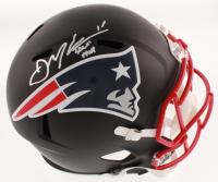 "Julian Edelman Signed New England Patriots Full-Size Matte Black Speed Helmet Inscribed ""SB LIII MVP"" (Beckett COA)"