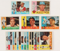 Lot of (20) 1960 Topps Baseball Card with #264 Robin Roberts, #116 Jim Rivera, #114 Ken Aspromonte, #21 Dutch Dotterer, #5 Wally Moon