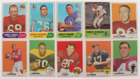 Lot of (10) Assorted Football Cards with 1968 Topps #94 Walt Suggs, 1969 Topps #240 Billy Kilmer, 1969 Topps #156 Dave Williams