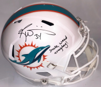 "Ricky Williams Signed Miami Dolphins Full-Size Speed Helmet Inscribed ""Smoke Weed Everyday!"" (PSA COA)"