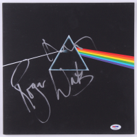 """Roger Waters & Nick Mason Signed Pink Floyd """"The Dark Side of the Moon"""" Vinyl Record Album Cover (PSA LOA)"""