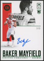 2018 Panini Encased Scripted Signatures Emerald #SSBM Baker Mayfield