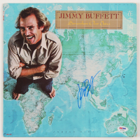 "Jimmy Buffett Signed ""Somewhere Over China"" Vinyl Record Album Cover (PSA COA) at PristineAuction.com"