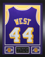 Jerry West 24x30 Custom Framed Jersey Display (JSA COA) at PristineAuction.com