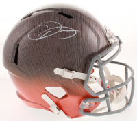 Odell Beckham Jr. Signed Cleveland Browns Full-Size Hydro Dipped Speed Helmet (JSA COA)