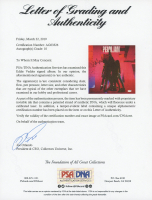 "Eddie Vedder Signed Pearl Jam ""Ten"" Vinyl Record Album Cover (PSA LOA) at PristineAuction.com"