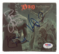 "Ronnie James Dio, Vivian Campbell & Vinny Appice Signed Dio ""Stand Up and Shout: The Anthology"" CD Album (PSA Hologram) at PristineAuction.com"