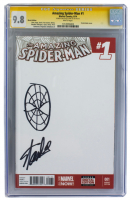 "Stan Lee Signed 2014 ""The Amazing Spider-Man"" Issue #1 Marvel Comic Book with Original Spider-Man Sketch (CGC 9.8)"