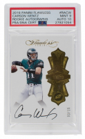 2016 Panini Flawless Rookie Autographs #2 Carson Wentz RC (PSA 9) at PristineAuction.com
