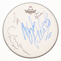 Drum Head Signed by (4) With Mickey Fleetwood, Lindsey Buckingham, Christie McVie & John McVie (PSA LOA) at PristineAuction.com