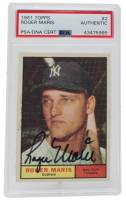 Roger Maris Signed 1961 Topps #2 (PSA Encapsulated) at PristineAuction.com